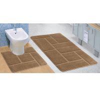 Koupelnová a WC předložka béžová zeď