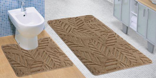 Koupelnová a WC předložka béžový podzim
