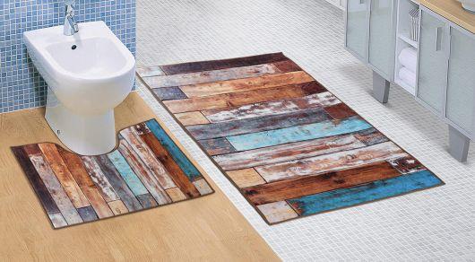 Koupelnová a WC předložka Dřevěná podlaha 3D