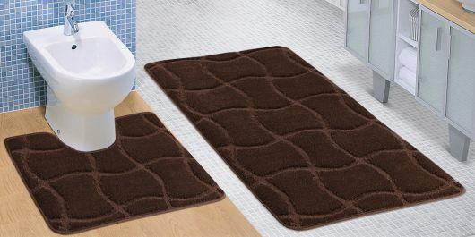 Koupelnová a WC předložka hnědá čokoláda