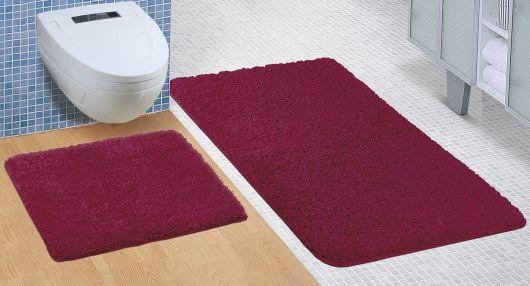 Koupelnová a WC předložka Micro bordó