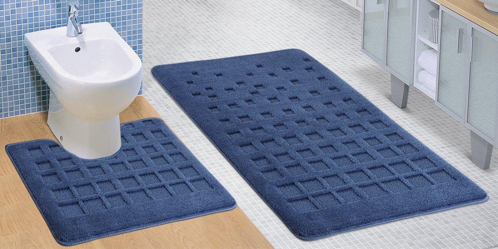 Kvalitex Koupelnová a WC předložka modrá dlaždice