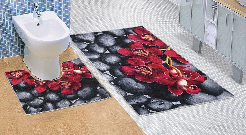Kvalitex Koupelnová a WC předložka Orchidea 3D