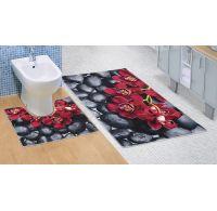 Koupelnová a WC předložka Orchidea 3D