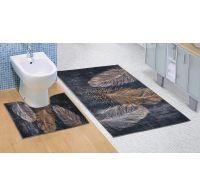 Koupelnová a WC předložka Pírko 3D