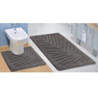 Koupelnová a WC předložka šedý list