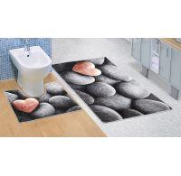 Koupelnová a WC předložka Tmavé kameny 3D