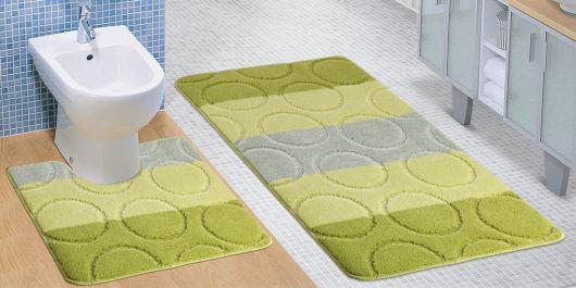 Koupelnová a WC předložka zelené kroužky