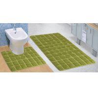 Koupelnová a WC předložka zelený mech