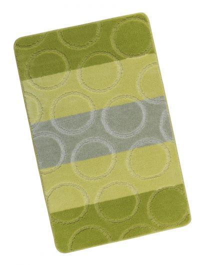 Koupelnová předložka 60x100cm zelené kroužky