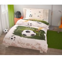 Ložní povlečení pro mladé 140x200, 70x90cm Fotbal
