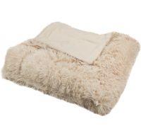 Luxusní deka s dlouhým vlasem 150x200cm BÉŽOVÁ