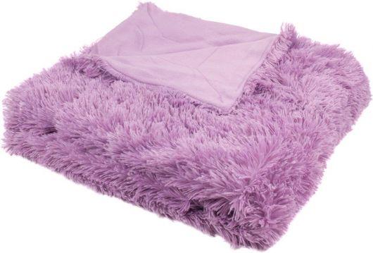 Luxusní deka s dlouhým vlasem 150x200cm FIALOVÁ