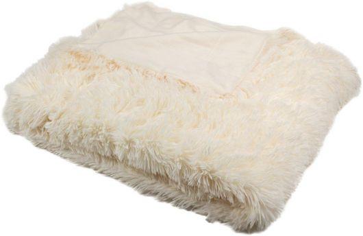Luxusní deka s dlouhým vlasem 150x200cm SMETANOVÁ