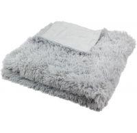 Luxusní deka s dlouhým vlasem 150x200cm SVĚTLE ŠEDÁ