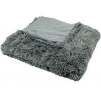 Luxusní deka s dlouhým vlasem 150x200cm TMAVĚ ŠEDÁ