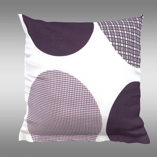 Povlak na polštář hladká bavlna AVA fialová