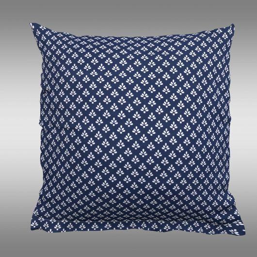 Povlak na polštář hladká bavlna CANZONE modré puntík