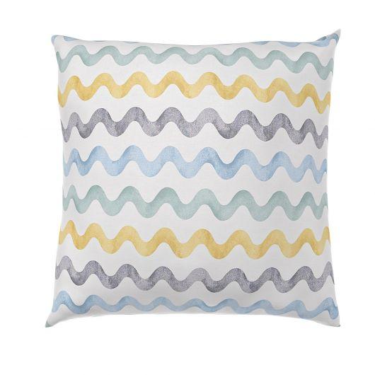 Povlak na polštář hladká bavlna DELUX DUO modré vlnky