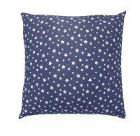 Povlak na polštář hladká bavlna DELUX HVĚZDY modré