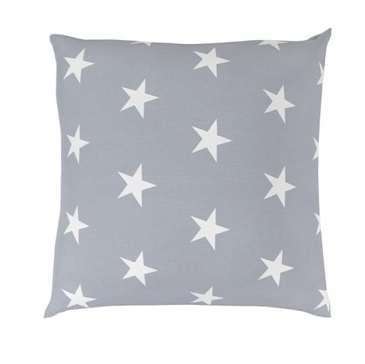 Povlak na polštář hladká bavlna DELUX STARS šedé