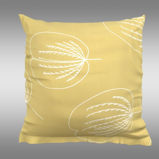 Povlak na polštář hladká bavlna GRACE žlutá