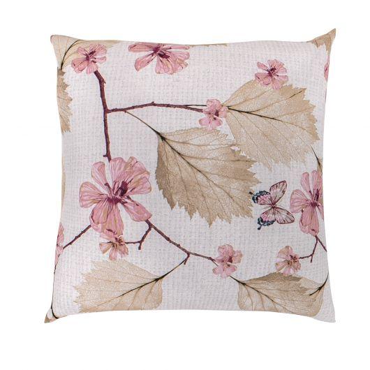 Povlak na polštář hladká bavlna MARY růžová reverse