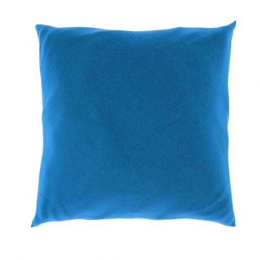 Povlak na polštář hladká bavlna MODRÝ