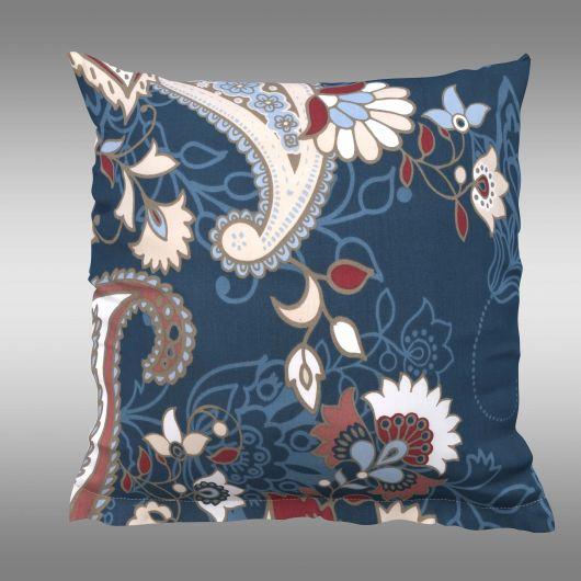 Povlak na polštář hladká bavlna OLYMPIA petrolejová dekor