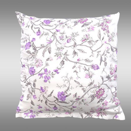 Povlak na polštář hladká bavlna PROVENCE - Beáta fialová