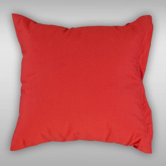 Povlak na polštář hladká bavlna PROVENCE - červený