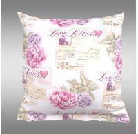 Povlak na polštář hladká bavlna PROVENCE - Leontýna růžová