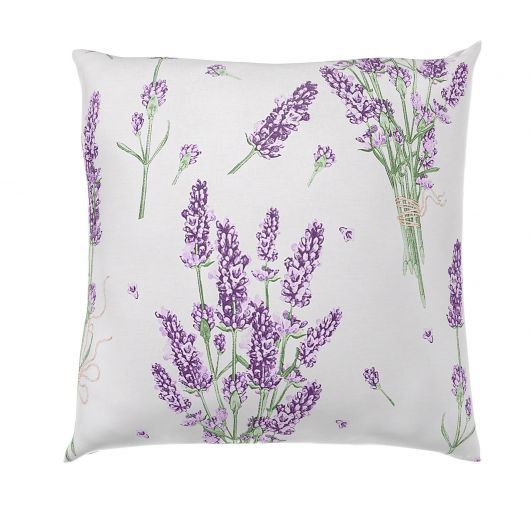 Povlak na polštář hladká bavlna PROVENCE LEVANDULE fialová