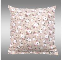 Povlak na polštář hladká bavlna PROVENCE - Olívie béžová