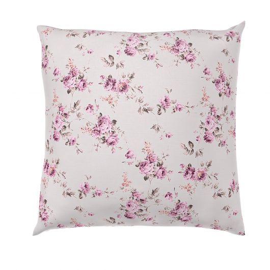 Povlak na polštář hladká bavlna PROVENCE ROSE fialové
