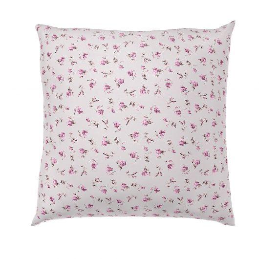 Povlak na polštář hladká bavlna PROVENCE ROSE fialové reverse