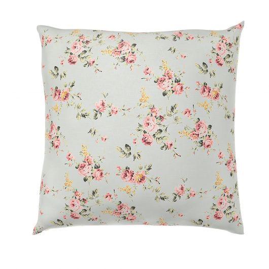Povlak na polštář hladká bavlna PROVENCE ROSE zelené