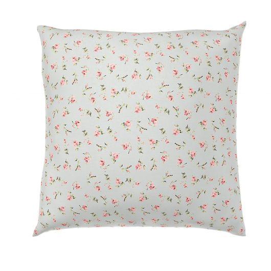 Povlak na polštář hladká bavlna PROVENCE ROSE zelené reverse