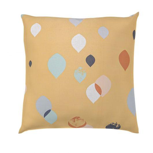Povlak na polštář hladká bavlna SERENA žlutá