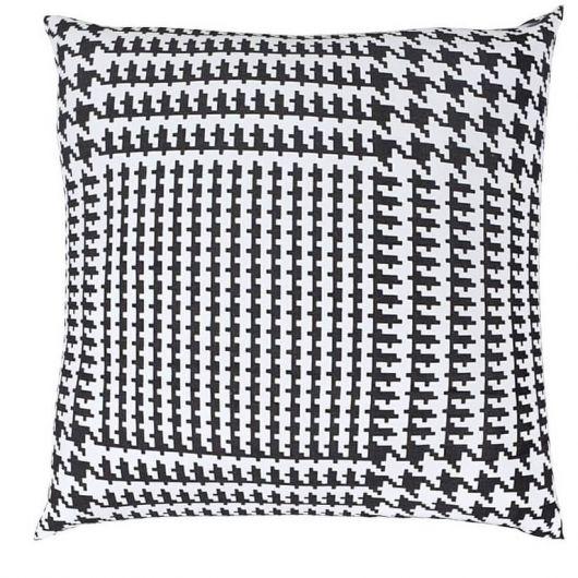 Povlak na polštář hladká bavlna SOPHIA černobílá