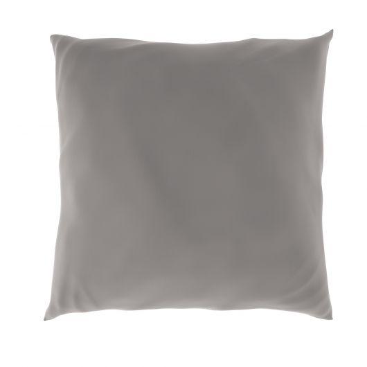 Povlak na polštář hladká bavlna SVĚTLE ŠEDÝ