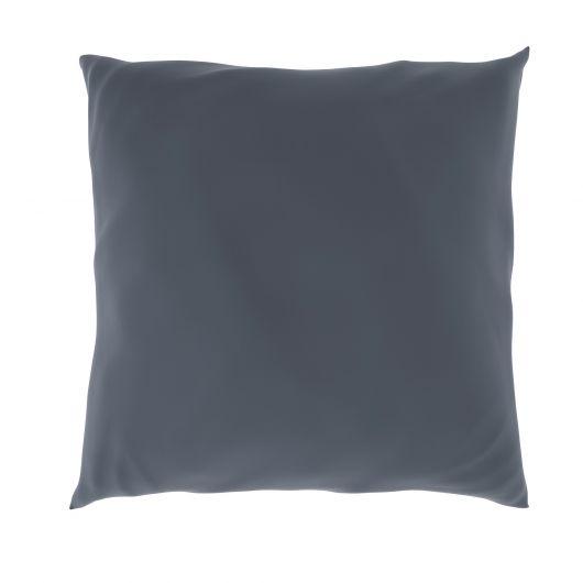 Povlak na polštář hladká bavlna TMAVĚ ŠEDÝ