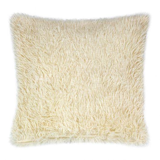 Povlak na polštář s dlouhým vlasem BÉŽOVÝ