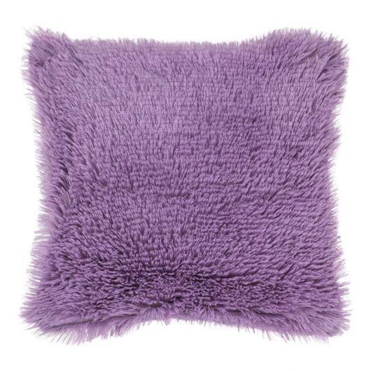 Povlak na polštář s dlouhým vlasem FIALOVÝ