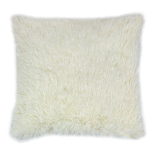 Povlak na polštář s dlouhým vlasem SMETANOVÝ