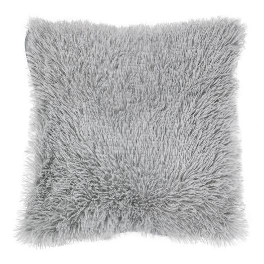 Povlak na polštář s dlouhým vlasem SVĚTLE ŠEDÝ