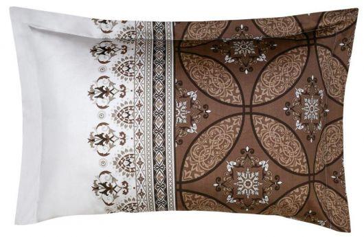 Povlak na polštář saténový panel IVORE hnědé