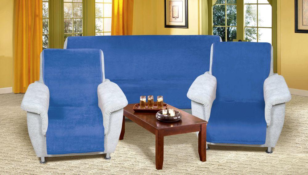 Kvalitex prikrývka na sedaciu súpravu micro modrý
