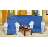 Přehoz na sedací soupravu Micro 3+1+1 modrý