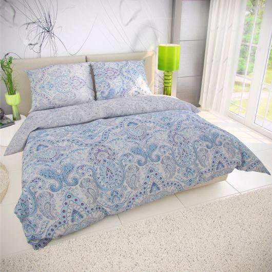 Prodloužené bavlněné povlečení PALIZA modrá 140x220, 70x90cm
